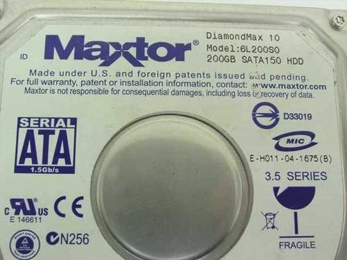 """Maxtor DiamondMax 10  200GB 3.5"""" SATA Hard Drive- 6L200 - AS IS"""