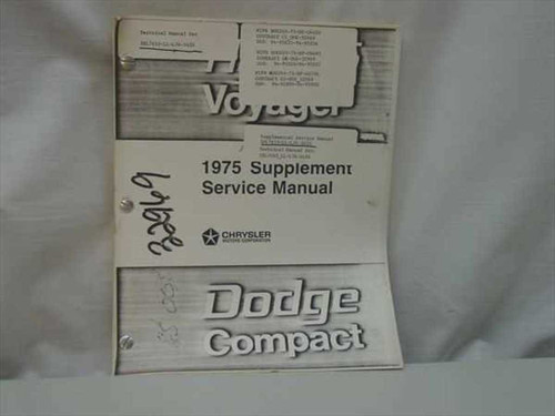 1975 Dodge Compact Supplemental Service manual - Copy
