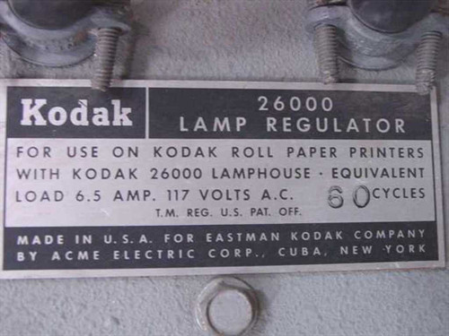 Kodak Lamp Regulator Voltage Isolation Transformer 26000 - AS IS