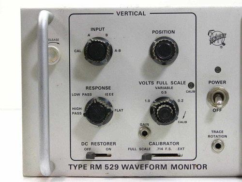 Vintage Tektronix RM 529 Waveform Monitor - AS IS