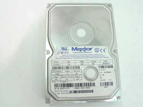 "Dell 3151P Maxtor 91024D4 - 10.2GB 3.5"" IDE Hard Drive"