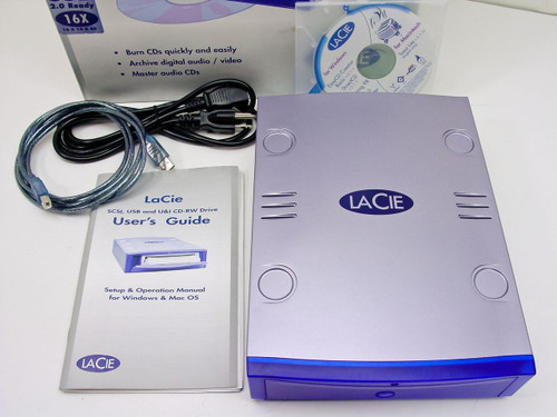 La Cie Ltd. CD-RW USB 2.0 External 16x10x40x w/toast  SE2100 - AS IS