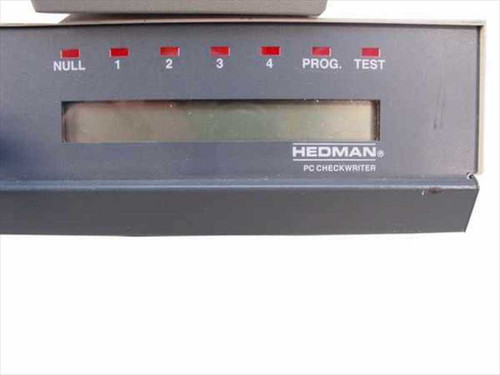 Hedman PCC8000 Hedman PC Checkwriter AS-IS