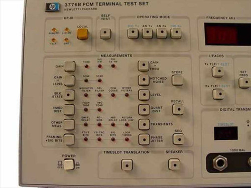 HP 3776B  PCM Terminal Test Set w/ Option 001 - As Is