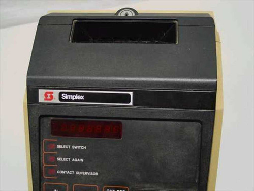 Simplex 1302 Management Terminal Calculating Time Clock - Amano MJR-7000 - As Is