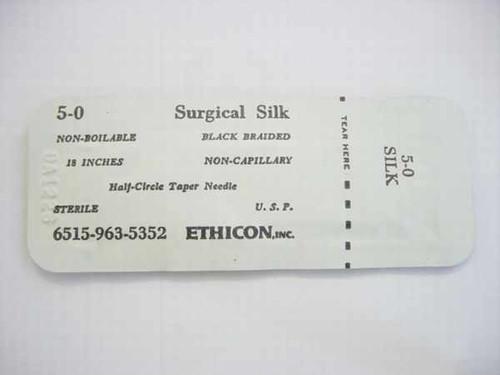 Ethicon 5-0  Suture Surgical Silk 6515-963-5352