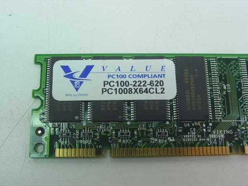 Unbranded 64MB 8MX64 100 MHz SDRAM Memory - Various Manufacturers