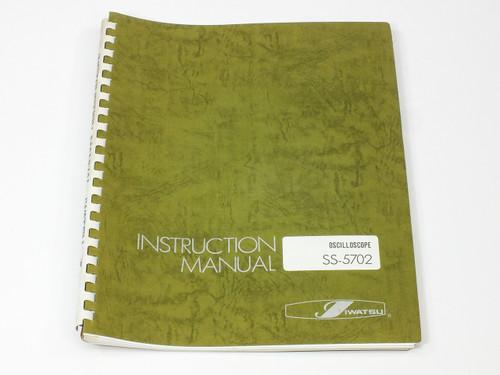 Iwatsu Electric Co. Ltd Instruction Manual SS-5702