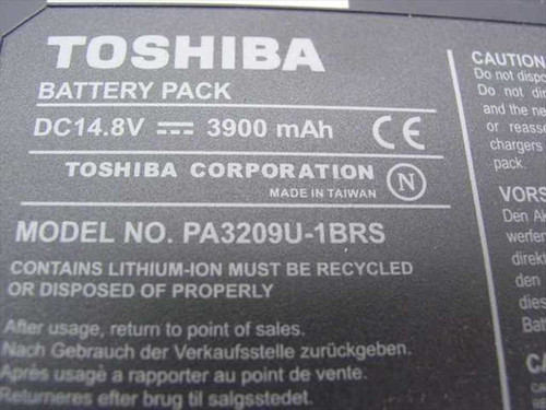 Toshiba PA3209U-1BRS Satellite 1110 1110 LI-Ion 14.8 V Laptop Battery