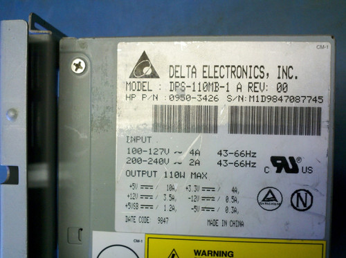 HP 0950-3426 110W 20-Pin ATX Power Supply - Delta DPS-110MB-1 PSU - TESTED