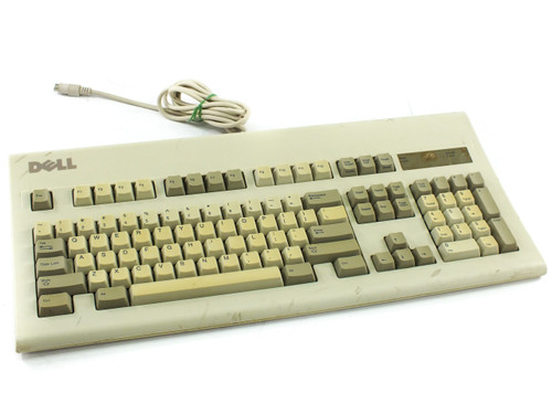 """Dell GYUM95SK """"New Logo"""" Mechanical Key PS/2 Keyboard - AT101- VINTAGE - AS IS"""