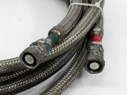 Pair Of 10-Foot CTI 8043074 Cryopump Helium Compressor Lines 5400-S5-8
