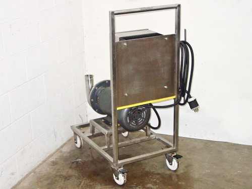Ampco MC2  SS Centrifugal Pump with 7.5HP Baldor Motor Cart