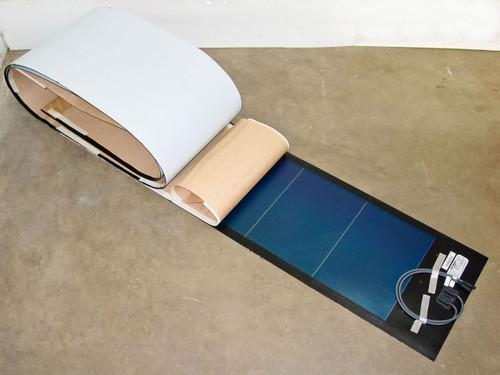 Uni-Solar PVL-116 UL LISTED 116W 24V Flexible Amorphous Solar Panel MC3 Cables