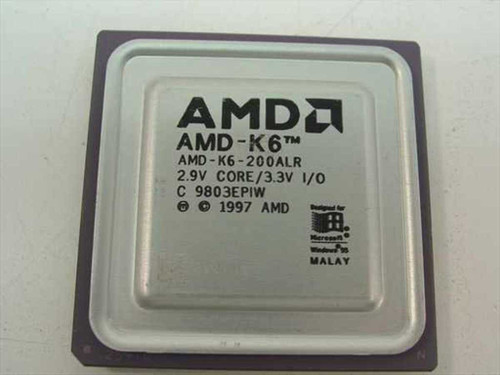 AMD K6-200ALR K6 200 MHz Processor 2.9V Core/3.3V I/O
