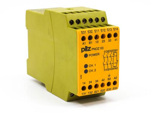 Pilz PNOZX3 4-Pole Safety Relay 24 VAC / 24 VDC - 774310
