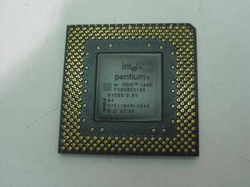 Intel P1 166Mhz MMX CPU FV80503166 (SY059)