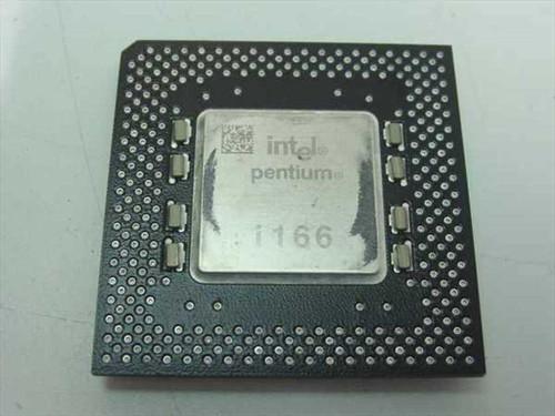 Intel SY037 166Mhz Pentium 1 MMX CPU - Vintage PI - FV80502166