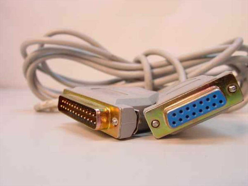 Generic Serial Cable DB25 Male to DB15 Female Serial Communication Cable.