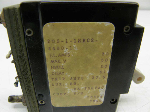 Airpax 205-1-11REC2-2480-1  30 Amp Circuit Breaker