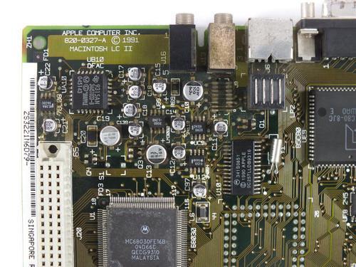 Apple 820-0327 Macintosh LC II System Board / Motherboard - Vintage 1991 - As Is