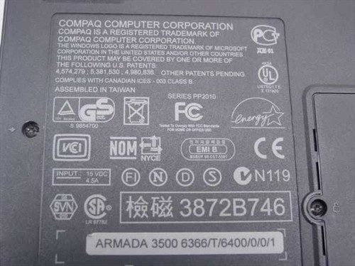 Compaq Armada 3500 PII266 Laptop 32MB RAM 6.1GB HDD - No AC Adapter - As Is
