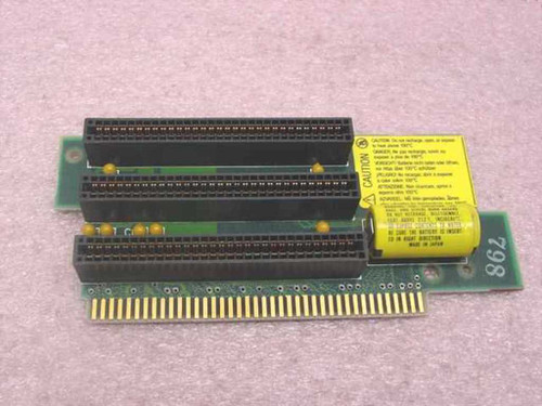 IBM 61X8864 3x 8-Bit ISA Riser Card 8530 Buss Adapter with Dead Battery - As Is