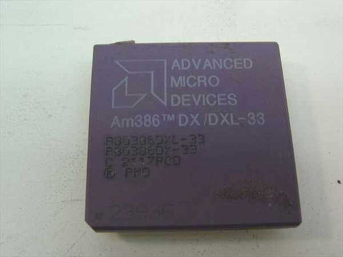 AMD A80386DXL-33 33Mhz Processor - Am386 DX/DXL-33 Vintage 386 CPU