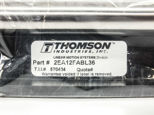 "Thompson Industrial 2EA12FABL36 Linear Motion Systems Sliding Stage 36""x6.5""x3"""