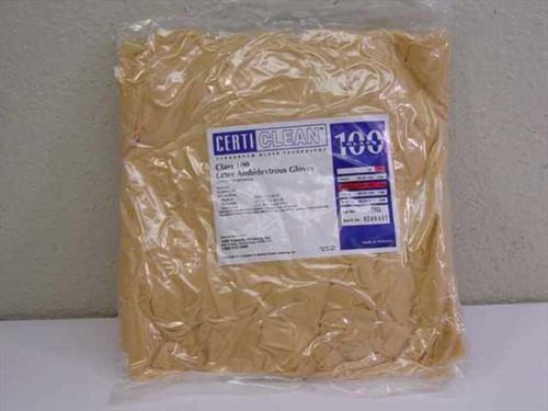 VWR 40101-160 CertiClean Class 100 MEDIUM Latex Ambidextrous Gloves - Lot of 100
