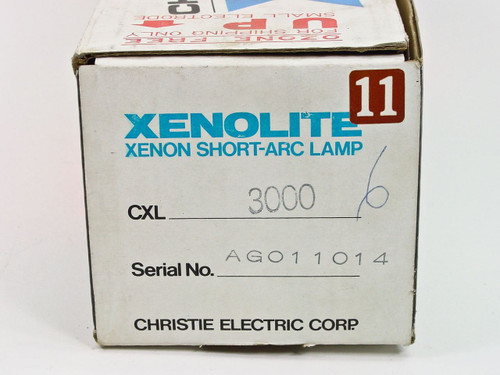 Christie Electric Xenolite Xenon Short-Arc Projection Lamp CXL 3000