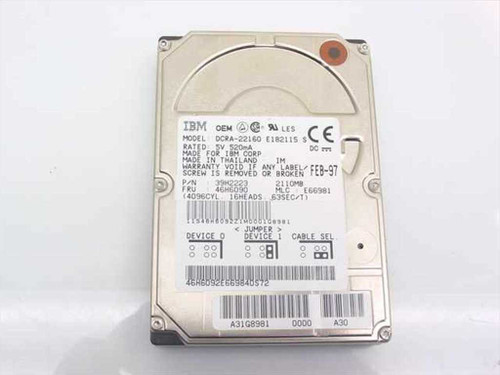 IBM 39H2223 2.1GB Laptop Hard Drive 2.5 - DCRA-22160