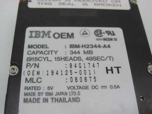 IBM 344MB Laptop Hard Drive (84G1747)