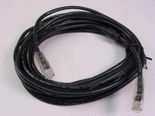Polycom 2457-06224-001  20Ft Black PC LAN Cable RJ45 to RJ45 Ethernet Cabl