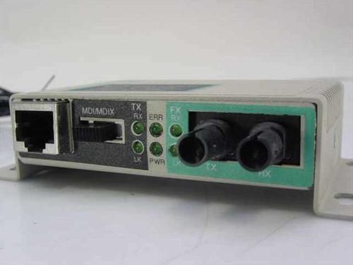 EtherCom TX to FX Fast Ethernet media converter/ST fiber (EFM12N-T)