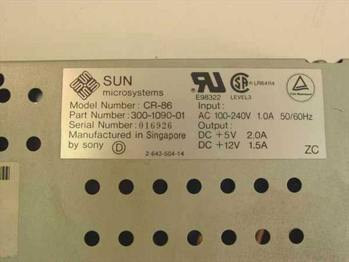 Sun 35 W Power Supply - Sony CR-86 (300-1090)
