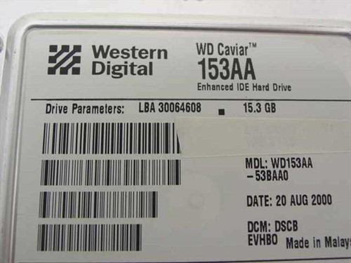 "Western Digital WD153AA 15.3GB 3.5"" IDE Hard Drive 7200RPM"