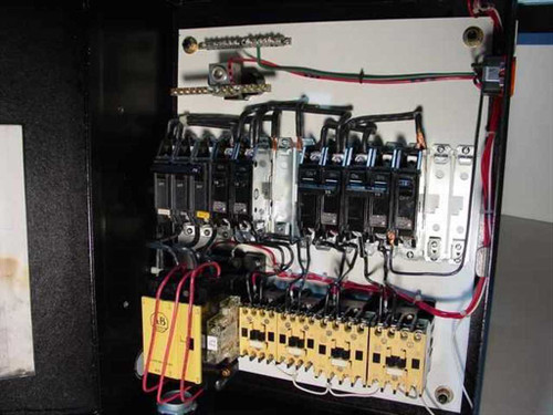 Generic Custom Breaker Box with 15A, 20A 70A Breakers, 2x Outlets and Switches