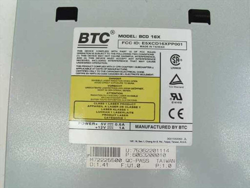 BTC 16x IDE Internal CD-ROM Drive BCD16X