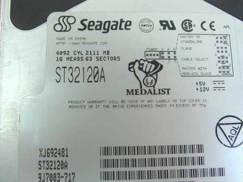 """Seagate 2.1GB 3.5"""" IDE Hard Drive (ST32120A)"""