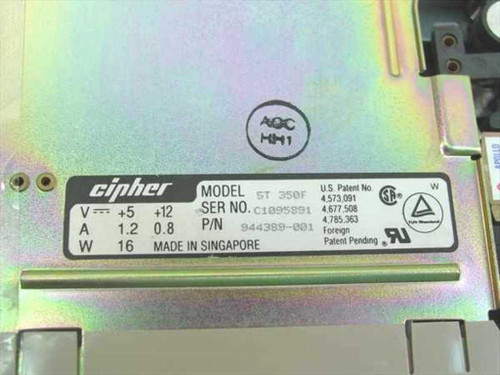 """Cipher 5.25"""" Tape Drive 700mb ST 350F"""