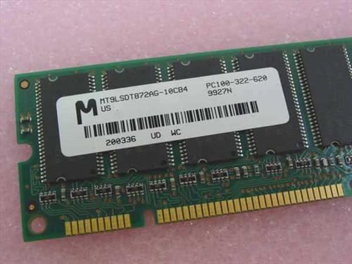 Micron MT9LSDT872AG-10CB4 64MB PC 100 8x72, Unbuffered SDRAM ECC - 100 MHz RAM