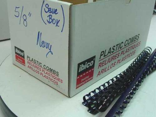"Ibico 15171 5/8"" Black Plastic Binding Combs - 95 pcs"
