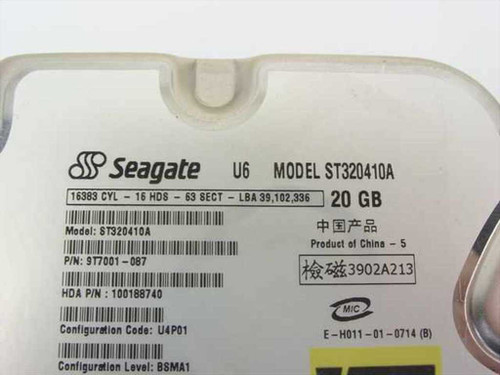 """Seagate ST320410A  20.0GB 3.5"""" IDE Hard Drive"""