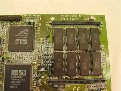 ATI PCI MACH64 109-25500-40 2 Video Card (1022555541)