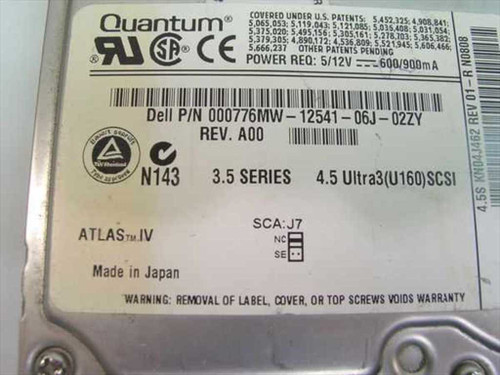 "Quantum 4.5GB 3.5"" SCSI Hard Drive 80 Pin - 4.5S 776MW"