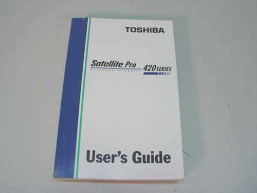 Toshiba C351-0596M1 Satellite Pro 420 Series User's Guide