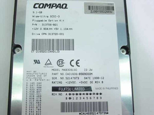"Compaq 9.1GB 3.5"" SCSI Hard Drive 7200 RPM 80 Pin - Fujit (313720-001)"