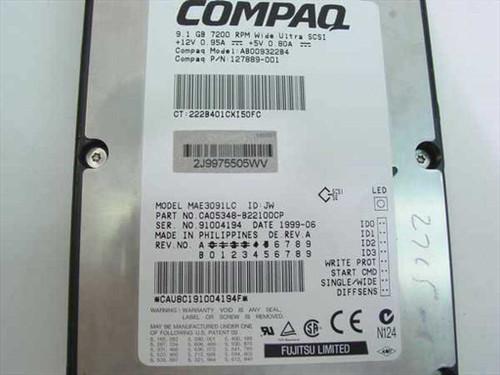 "Compaq 9.1GB 3.5"" SCSI Drive 7200 RPM 80 Pin - Fujitsu MA (127889-001)"
