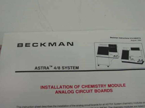 Beckman Analog Circuit Board for Astra Chemistry Module 654194